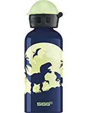 """Sigg 8543 children""""Glow Moon Dinos"""" with light effect drinking bottle, 14 oz, Multicolor"""
