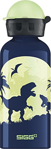 (Sigg 8543 Children Glow Moon Dinos with Light Effect Drinking Bottle, 14 oz,)