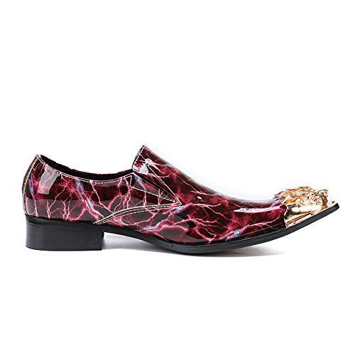 in gli 38 rossa 2 autunno primavera punta pelle compleanno regalo di Chlyuan uomo per 3 superficie da uomini antiscivolo EU casual business a scarpe Scarpe liscia Dimensione nwqSXgRY