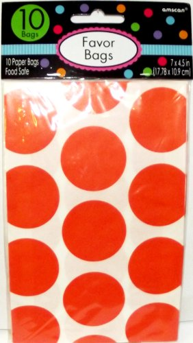 10 orange peel polka dot
