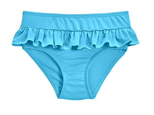City Threads Girls' Swimwear Ruffle Swim Briefs Bikini Bottoms Beachwear Swimming Suit, Turquoise, 3T (3t Bikini Bottom)