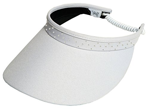 Glove It White Bling Ladies Golf Visor