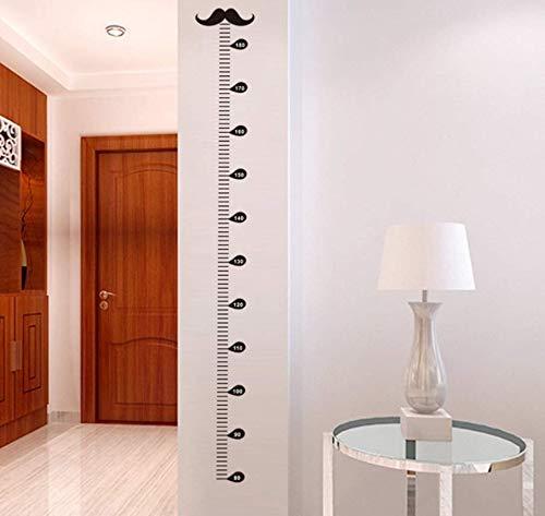 GUOXIN12 Cartoon Moustache Growth Chart Wall Art Decals