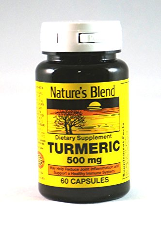 Nature's Blend Turmeric 500mg, 60 Capsules, (Pack of 2)