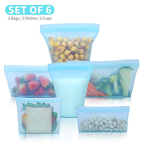 Reusable food container silicone