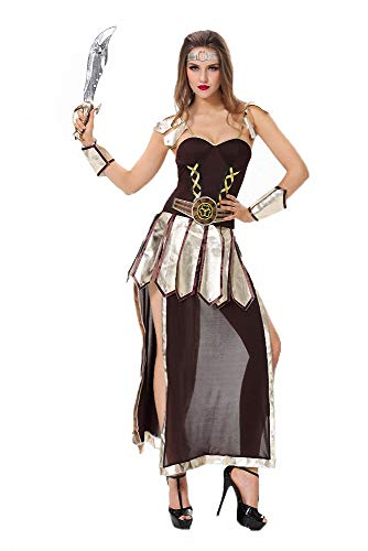 Women's Pirate Costume,Sexy Robinhood Female Soldier Halloween Costumes Adult Party Cosplay Costume Dress