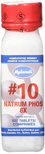 Hyland's Cell Salts #10 Natrum Phosphoricum 6X Tablets, Natural Relief of Indigestion, Gas and Joint Pain, 500 Count