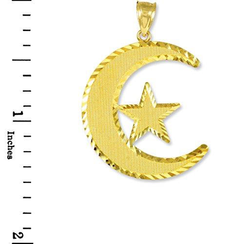 10 ct 471/1000 Islamic CresCarat Or Pendentif