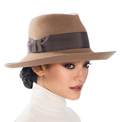 Eric Javits Luxury Fashion Designer Women's Headwear Hat - Tiffany - Camel by Eric Javits