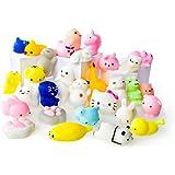 LAEGENDARY Mochi Squishy Toys - Variety of 30 Squishy Package - Mochi Squishy Cat, Panda Squishy, Food Squishies - Mochi Animals Phone Charms - Key Chain Strap Squishys