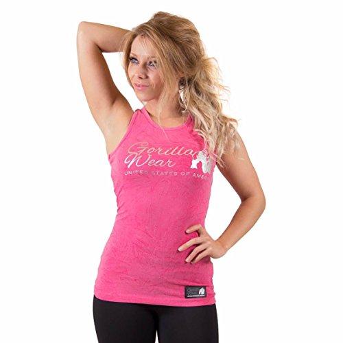 Gorilla Wear Women's Leakey Tank Top - Pink - Bodybuilding und Fitness Tanktop für Damen
