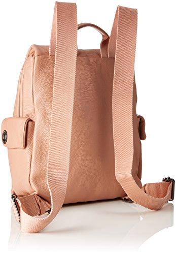 Mandarina Duck Damen Mellow Leather Tracolla Schultertasche, Pink (Dusty Rose), 10x32x28 cm