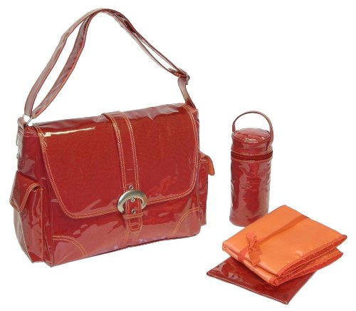 Kalencom Laminated Buckle Bag, Red Corduroy