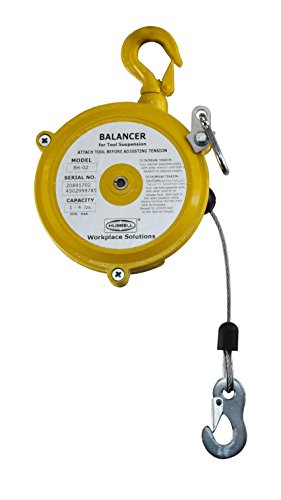 Hubbell Workplace Solutions GR62426701 BH-03 Tapered Drum Tool Balancer for Tools Weighing 2.2-6.6 lb, Aluminum Housing, 4.3' Heavy Duty Steel Rope