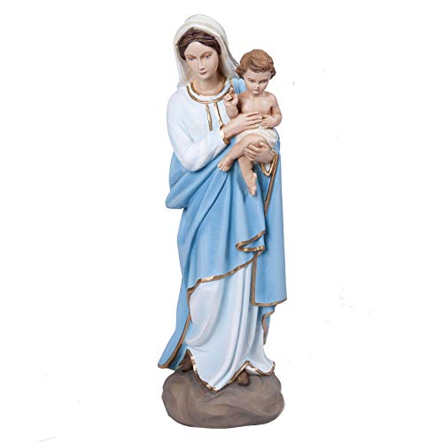 Holyart Virigin Mary and Infant Jesus, Fiberglass Statue, 60 ()