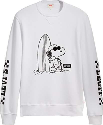 B Sweater Graphic Levi's Bianco Crew ® Peanuts O0w766tvqn