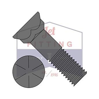 Plow Bolts Grade 8 Steel 3 Head Plain 50 pcs 5//8-11 X 6 Flat Head