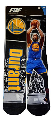 Kevin Durant Golden State Warriors Drive Montage Socks (3 Sizes Available) (Youth 13, 1-5)