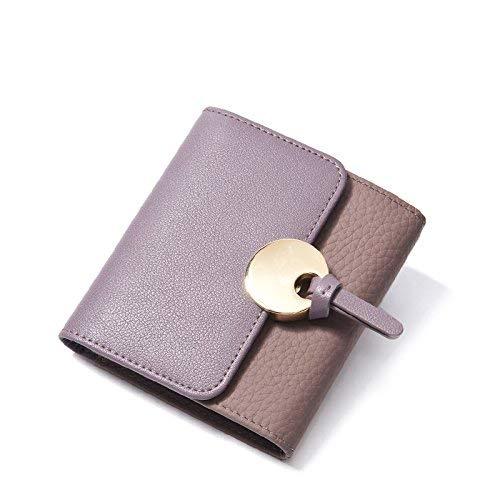 Evening Bag Purse Girl Short Multifunctional Student Zero Wallet Folding Party Handbag (Color : Purple)