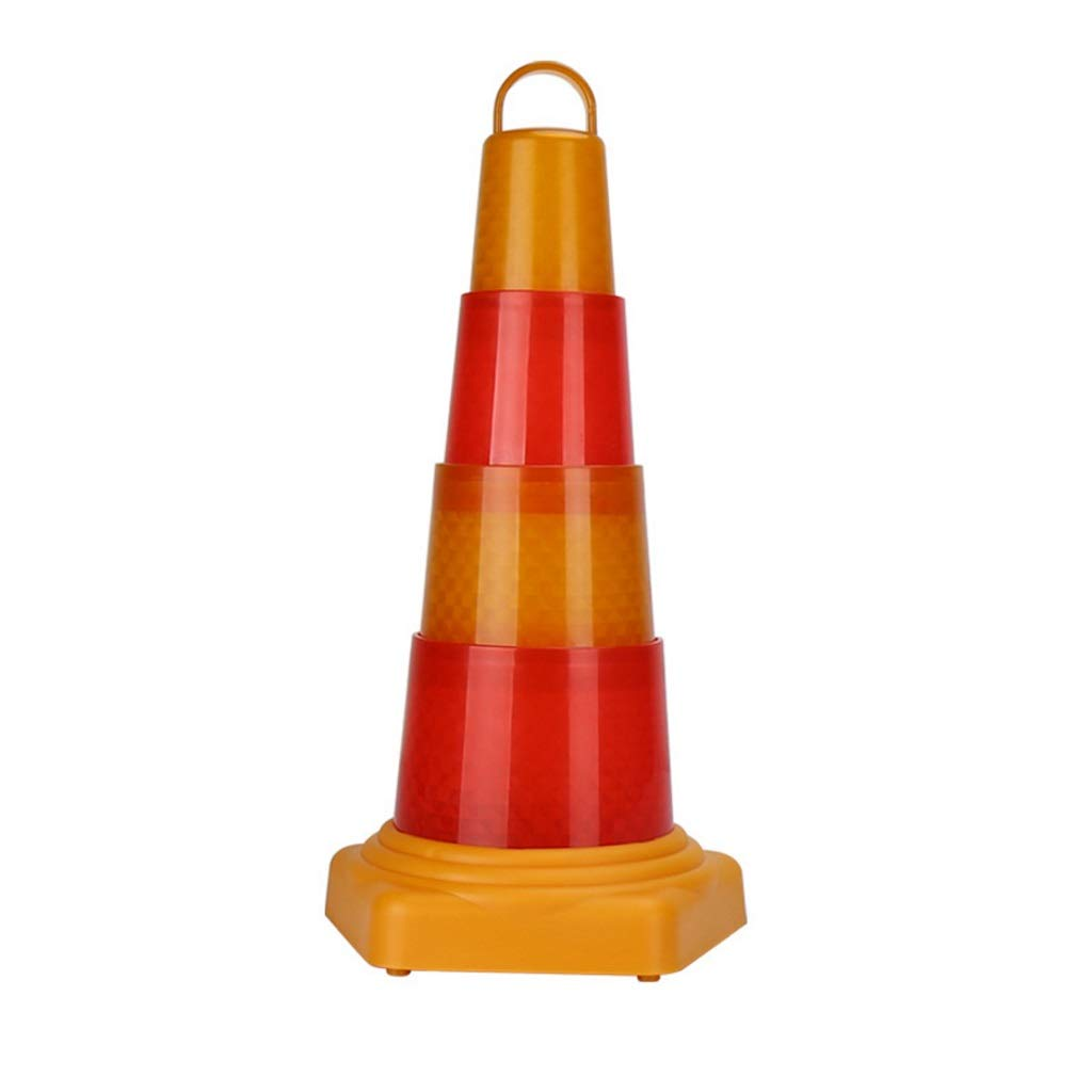 43cm XXW Traffic Cone LED Warning Light Safety Cone Telescopic Car Fault Stop Roadblock Light Warning Sign Conical Road Sign (Size   43cm)