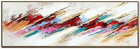 Moderna Cuadro En Lienzo,Impresiones De Póster Arte De La Lona Arte De La Pared Colorida Abstractas Para Sala Cuadros Decoración Sin Marco(50x150cm)