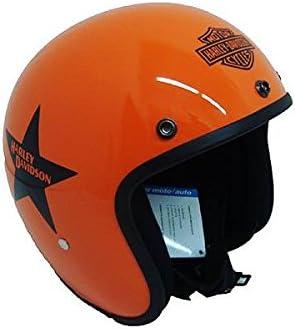 Amazon.es: Casco jet pequeño y homologado, naranja, de Harley Davidson XS Arancio