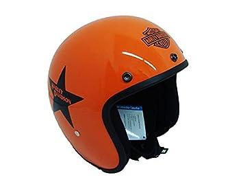 Casco jet pequeño y homologado, naranja, de Harley Davidson M Arancio