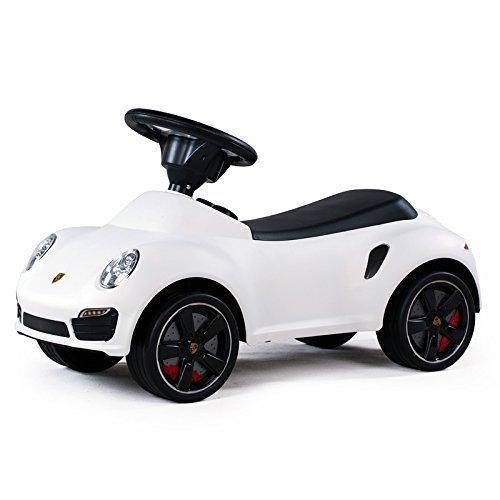LEOMARK Kinderfahrzeug Kinderauto Rutschfahrzeug Lizenziertes Rutscher Rutschauto Lizenz Kinder Laufauto Baby Car Porsche 911 Weiß