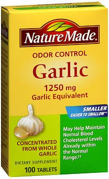 Nature Made Odor Control Garlic Tablets, 1250 mg - 100 ct, Pack of 3