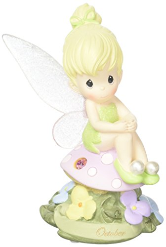 Precious Moments, Disney Showcase Collection, October Fairy As Tinker Bell, Pink Tourmaline, Resin Figurine, 113217 -