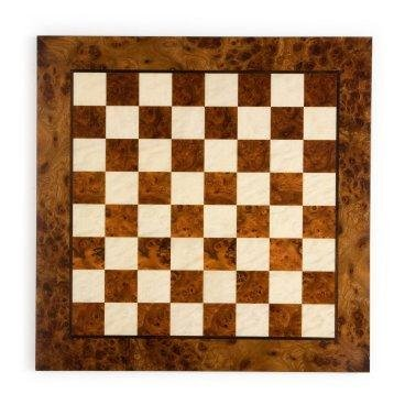 - Exotic Checker Board w Elm & Root Wood Finishes