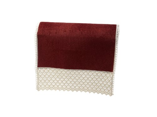 Chenille Chair Backs Sofa Furniture Cover Antimacassar (Wine)