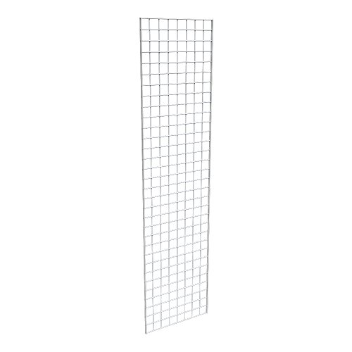 Econoco Commercial Grid Panel, 2' x 8', White (Pack of 3) by Econoco