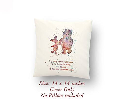 Winnie-the-Pooh and Piglet Quote 14 x 14 inches Pillow Cover