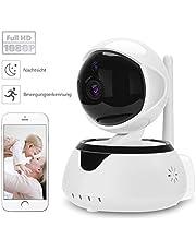 IrisCargo 1080P Wlan Kamera IP Full HD WIFI Überwachungskamera mit IR Nachtsicht Bewegungserkennung 2 Wege Audio Home Indoor Kamera Baby Monitor Smart 355°/90° Schwenkbar Sicherheitskamera per LAN & Wlan Verbindung