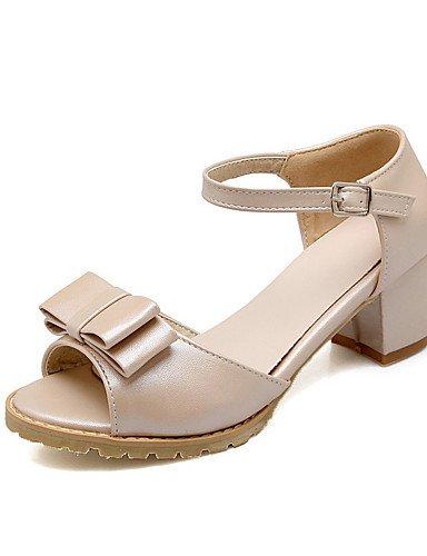 LFNLYX Zapatos de mujer-Tacón Robusto-Tacones / Punta Abierta-Sandalias-Oficina y Trabajo / Vestido / Casual / Fiesta y Noche-Semicuero-Azul / Purple