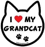 I Love My Grandcat cat head magnet