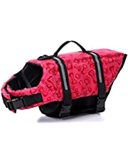 Oxford Dog Lifejacket Ripstop Quick Release Easy-Fit Dog Life Preserver Multicolor