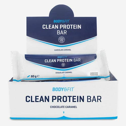 Body & Fit Clean Protein Bar Chocolate Caramel 720 gramm (12 riegel)