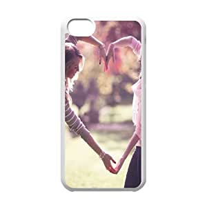 iPhone 5c Cell Phone Case White Girls Heart GY9086272