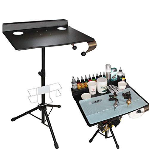 IHIGGG Tattoo Workstation Detachable Heavy Duty Mobile Tray Portable Adjustable Tattoo Table Salon ()