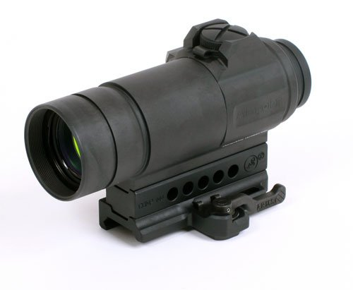 Aimpoint CompM4s, 2MOA Red Dot Sigh, with A.R.M.S. #74 with Quick Release Throw Lever Mount & Spacer