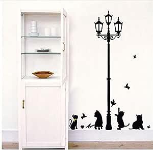 Black Cat Wall Sticker DIY Removable Home Wallpaper 3D Wallpaper for Home Decor