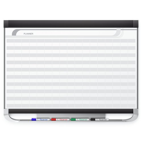 Quartet Prestige 2 Magnetic DuraMax Porcelain Planning System, 3 x 2 Feet Board with 2 x 1 Inches Grid ()