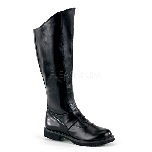 Funtasma by Pleaser Men's Halloween Gotham-100 Boot,Black Polyurethane,S (US Men's 8-9 -
