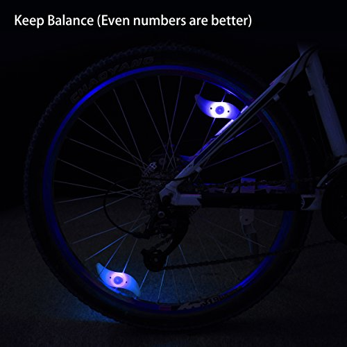 Bike Spoke Light,Lucco Bike Wheel Lights Colorful Bicycle Tire Light Accessories Waterproof Bicycle Wheel Spoke, Keep Safe and Fun as a Gift for Kids and adults Night Riding 4 Packs