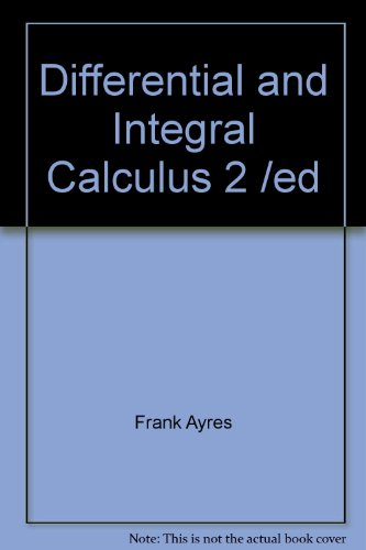 Ulivita - Download Differential and Integral Calculus 2 /ed book pdf