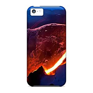 Awesome Phone Case Defender Tpu Hard Case Cover For Iphone 5c- Snow Lava