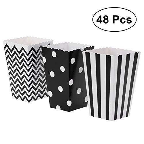 TOYMYTOY Popcorn Boxes,Paper Popcorn Boxes Popcorn Containers for Party Favor,48pcs -