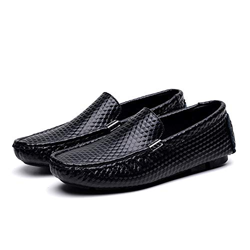 Mocasines Slip Mocasines de Nhatycir Hombre EU Color sólido de Verde tamaño Mocasines de Color de Negro Flat 45 Zapatos conducción Mocasines Color Negocios on sólido Shoes pwv5aX